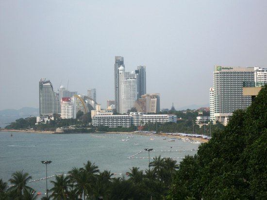 The Bayview Hotel: View across Pattaya Bay