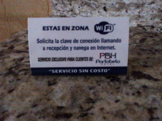 Portobelo Hotel: FREE WiFi