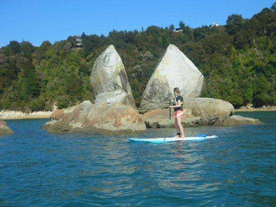 Abel Tasman Paddleboarding: Split Apple Rock from Little Kaiteriteri Beach