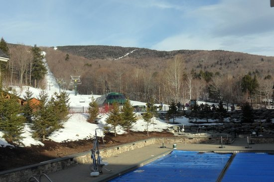 Clay Brook at Sugarbush: Looking out from the pool area