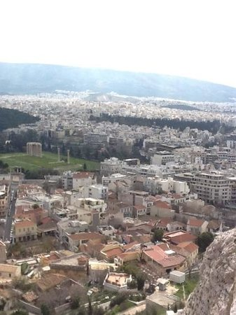 Plaka Hotel: veiw from the top of te acrpolis