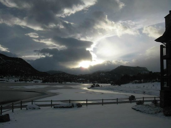 View from the windows of the Estes Park Resort Mezzanine banquet room