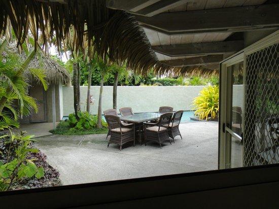 Te Manava Luxury Villas & Spa : outdoor dining