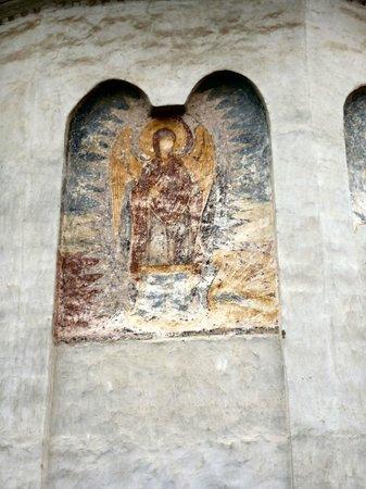 Sf. Nicolae Church (Saint Nicholas): Faded fresco