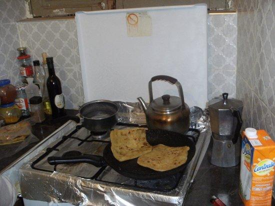 Riad Swaka : cuisson des crepes