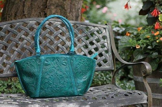 DeLong Studio: Hand-tooled leather handbag