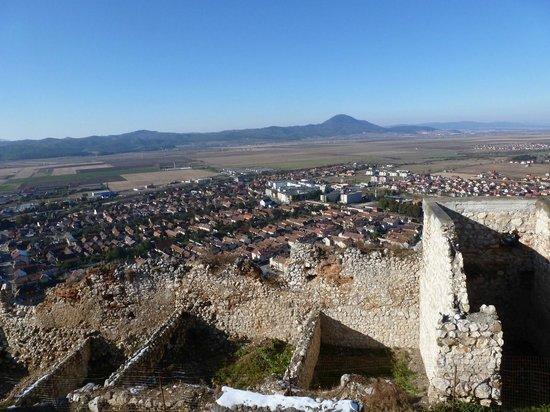 Rasnov Citadel: The town below