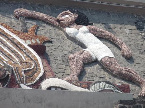 Ciudad Universitaria: Section of Rivera Mural on Olympic Stadium