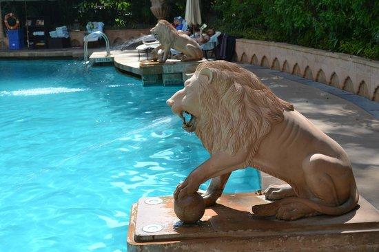 The Taj Mahal Palace Mumbai Stone Lion Pool Fountains