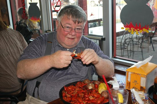 Crazy Bout Crawfish Cajun Cafe : Just got served with a huge plate of delicious crawfish. I chose medium spice..fantastic.