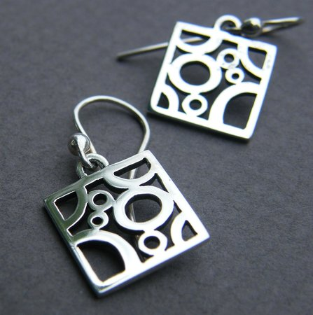 DeLong Studio: Sterling silver earrings