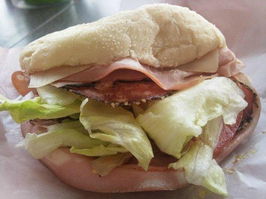 Il Vecchio's: 4-meat sandwich on the inside