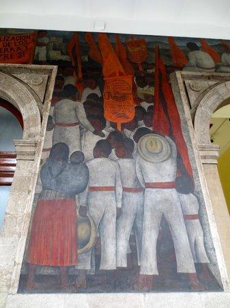 Murales de Diego Rivera en la Secretaría de Educacion Publica: Murals depict education or work.  Took Diego six years to complete them.