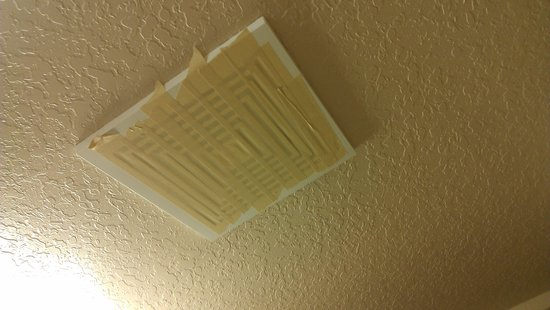 Candlewood Suites Melbourne: this is what a non-smoking room means to Candlewood Suites, tape up the bathroom vent so it does