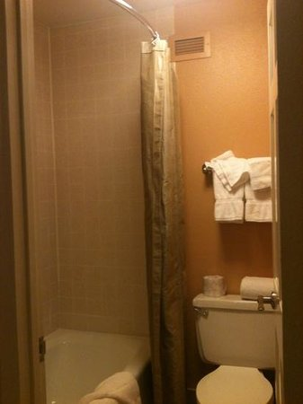Wine Valley Inn & Cottages: standard room bathroom, clean & updated