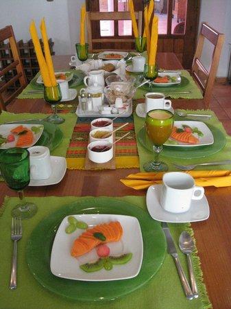 Casa de los Milagros B&B: Breakfast Table