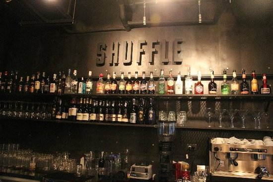Shuffle: Wide selection at the bar!