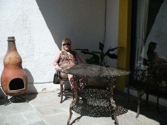Quinta del Sol: enjoying a break on our private terrace at the Casita