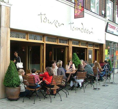 Tower Tandoori alfresco dining