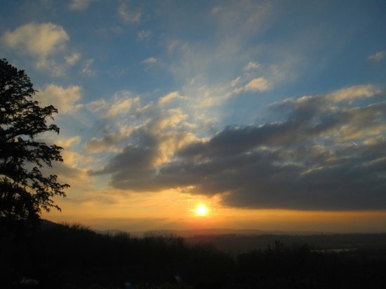 The Hill House: Wye Valley sunset from Hill House