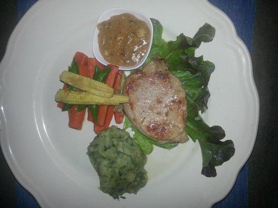 Hen Chef: Pork steak with mash