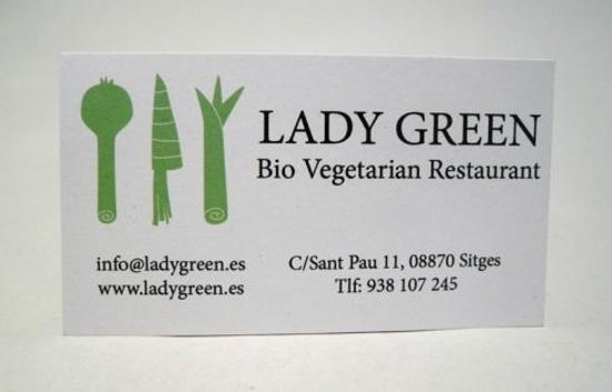 Lady Green: Restaurant Card