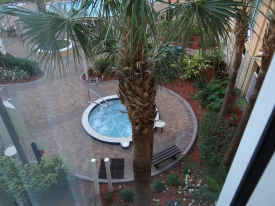 Holiday Inn Resort Orlando-Lake Buena Vista: Just one of the hot tubs out our window