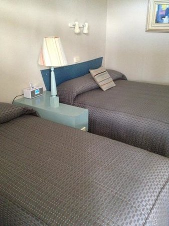 The Waterfront Wynyard: yes, the bed covers are depressing but sooo comfy and all new linens