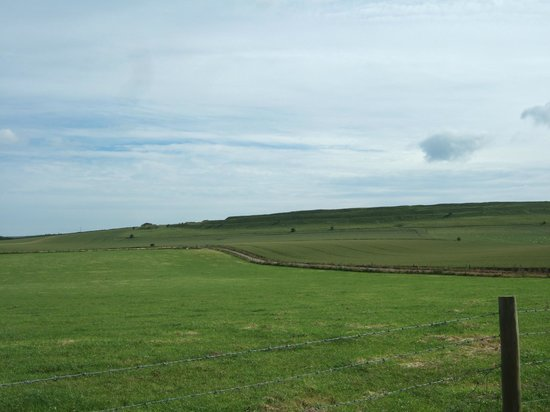 Maiden Castle from the car park