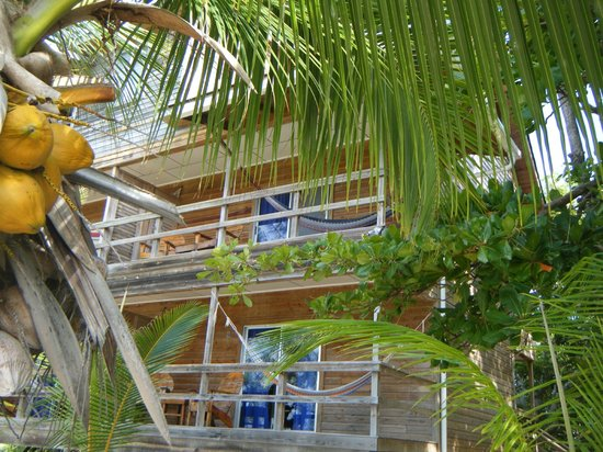 Deep Blue Resort Utila: balcony from the ground
