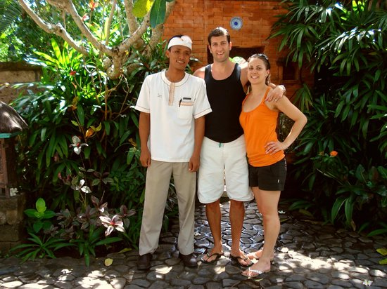 Plataran Canggu Resort & Spa: Us with our favourite staff member - Totok