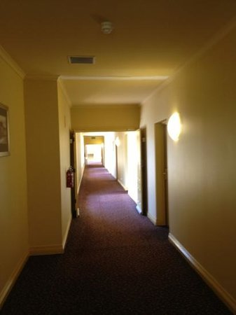 Strahan Village: dated hallway