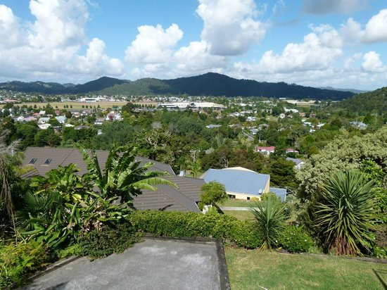Whangarei Views Bed and Breakfast & Apartment: Aussicht vom B&B auf Whangarei