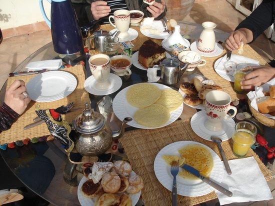 Riad Le Coq Berbere: desayunos increibles