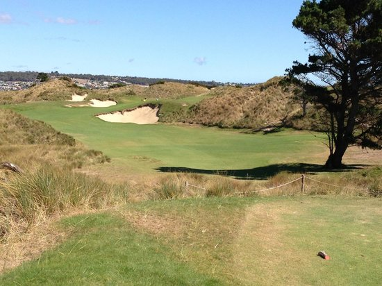 Barnbougle Dunes: Go on!  You know you can reach it in one!