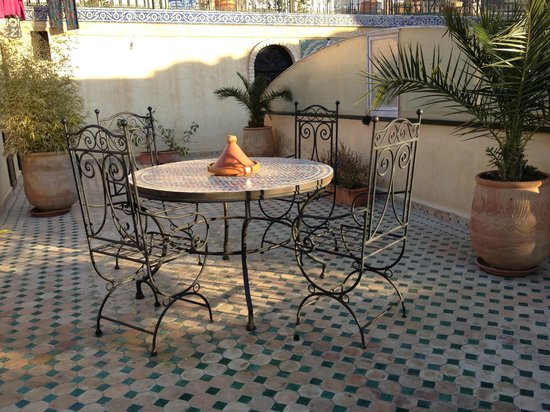 Riad Rcif: The terrace