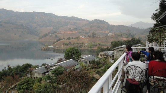Begnas Lake Resort: View from the Restorant