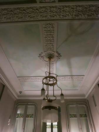 Circa 1905: Beautiful ceiling