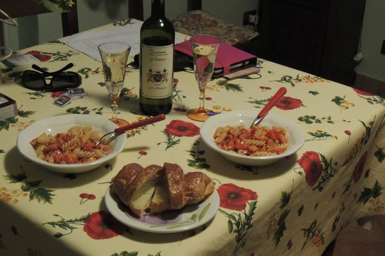 Agriturismo il Girasole : Our little homemade dinner