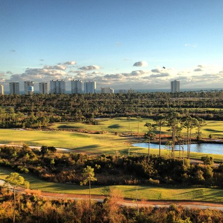Lost Key Golf Club: Course view from floor ten of the Lost Key Condos