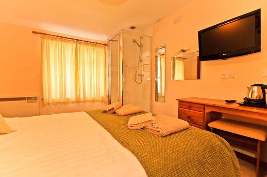 Cornishman Inn Tintagel: small double (shower in room)