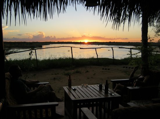 ‪‪Selous Great Water Lodge‬: Sunset over the Rufiji river‬