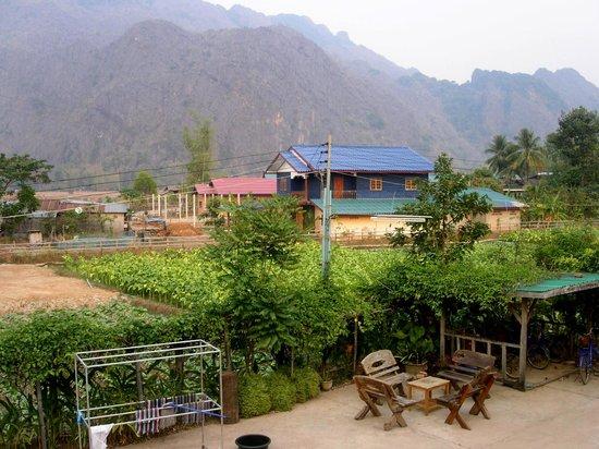 Chantha House: Vue du balcon