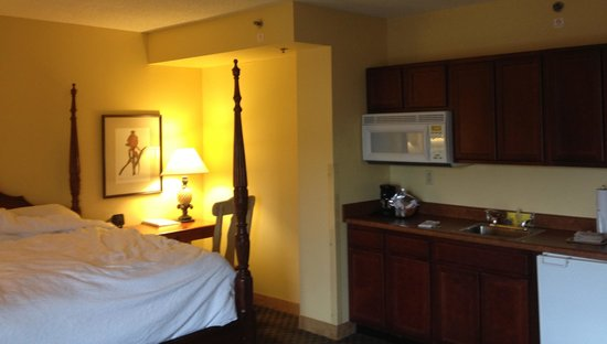 "Hampton Inn & Suites Convention Center: bedroom and ""kitchenette"" area"