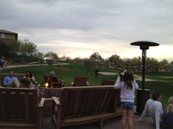 The Westin Kierland Resort & Spa: bagpiper at 6pm