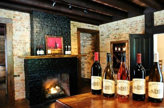 1861 Farmhouse Restaurant and Winery: The Wine Room;  Cozy Fireside Dining