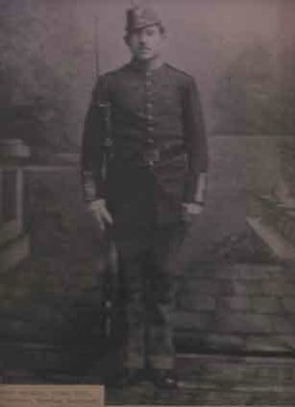 The Cavalryman Steakhouse: Our namesake... we don't know the name of this Fort Sanders soldier - if you do, let us know!