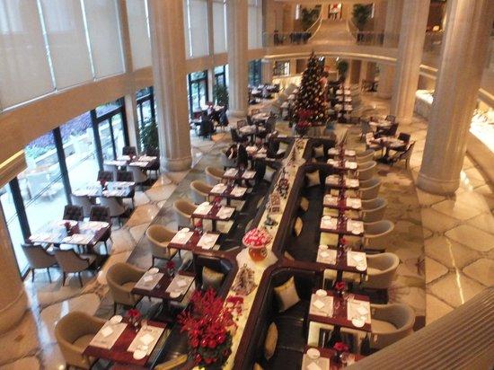 Waldorf Astoria Shanghai on the Bund: Brasserie from above