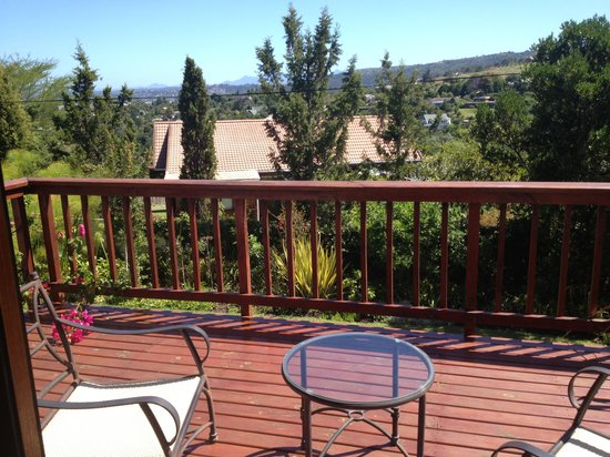 Knysna Country House: Private balcony
