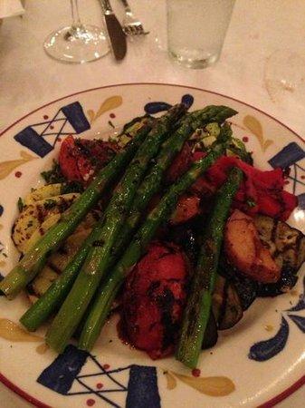 Cafe Santorini: Grilled vegetable entreé